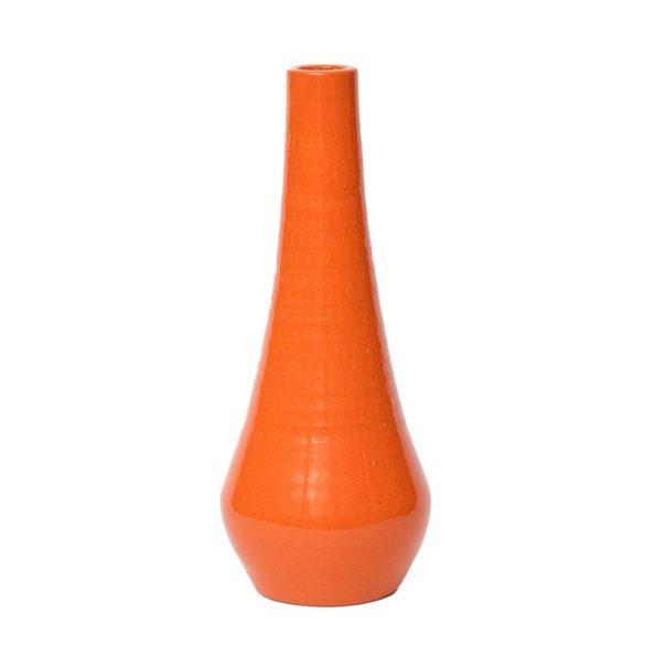 Jaren '70 oranje aardewerken vaas