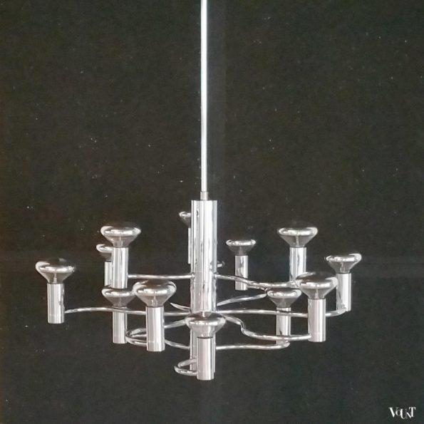 Jaren '70 hanglamp met 12 lichtpunten, Massive, België