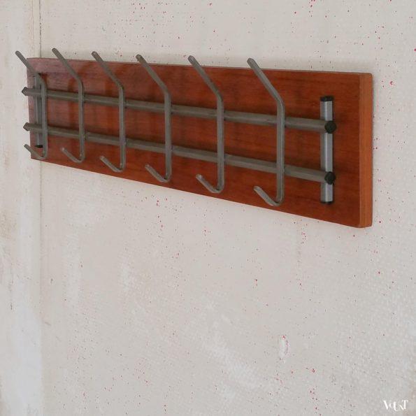 Minimalistische wandkapstok, jaren '60