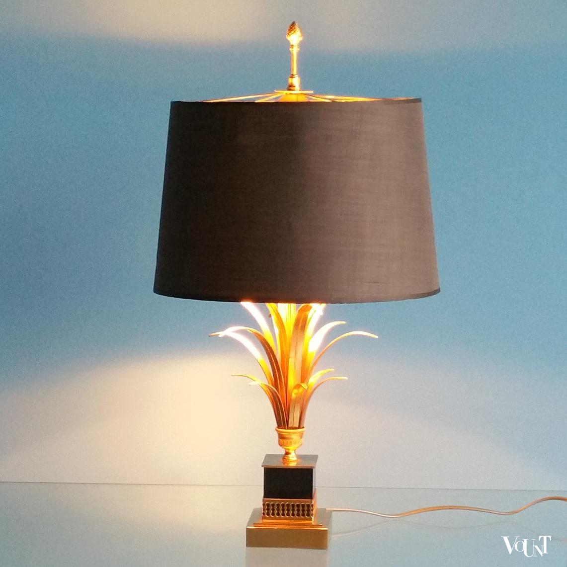 Ananas lamp pineapple leaf lamp, S.A. Boulanger, jaren '70