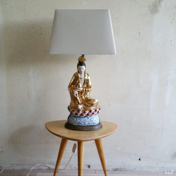Jaren '50/'60 tafellamp Guanyin