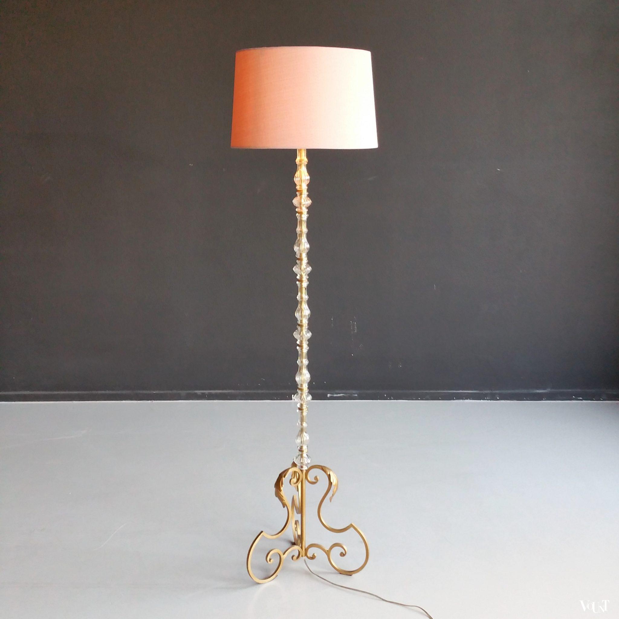 staande lamp murano glas jaren 39 60. Black Bedroom Furniture Sets. Home Design Ideas