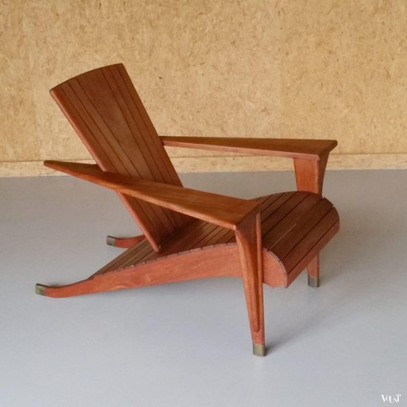 "Stoel ""Meditation, design Klaus Wettergren (Denemarken), producent Teak Farm"" (VS), begin jaren '90"
