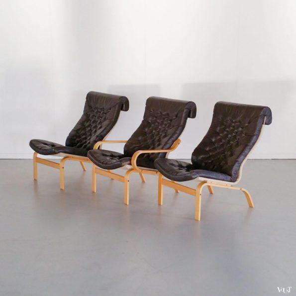 Zweedse vintage fauteuil, Noboru Nakamura voor Ikea, jaren '70