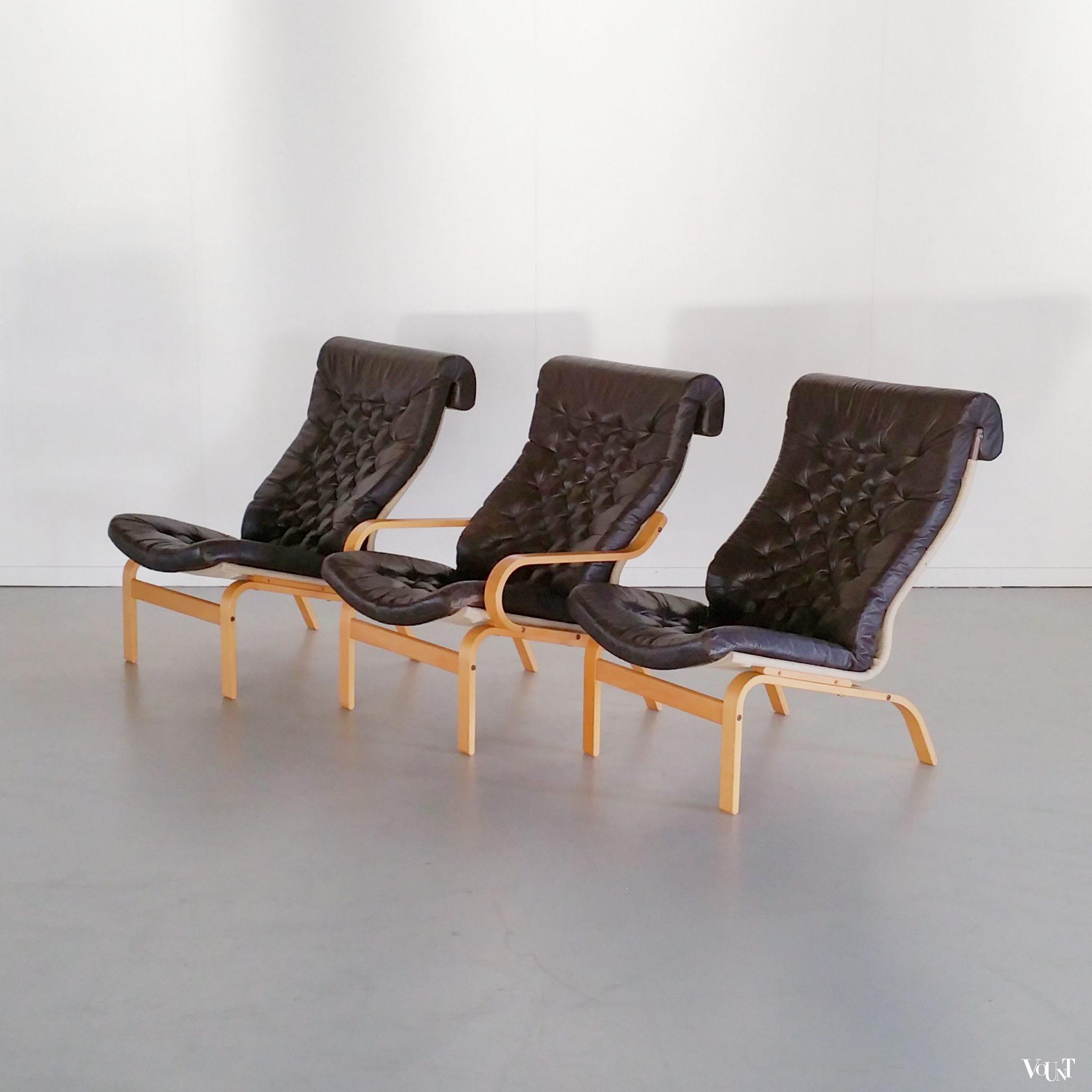 Ikea Leren Stoel.Zweedse Vintage Fauteuil Noboru Nakamura Voor Ikea Jaren 70