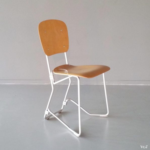 Vintage Aluflex stapelstoel, Armin Wirth, jaren '60/'70