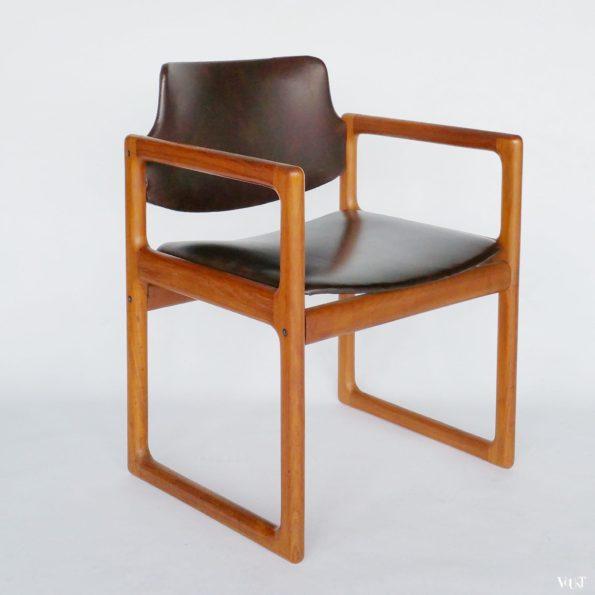 Teakhouten Scandinavische stoel, jaren '70