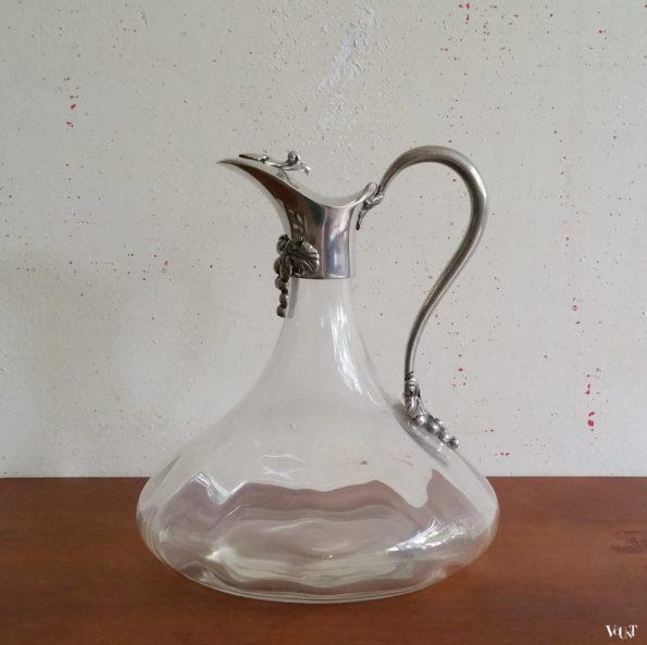 Vintage kristallen decanter, Jean Goardere, Frankrijk, jaren '70