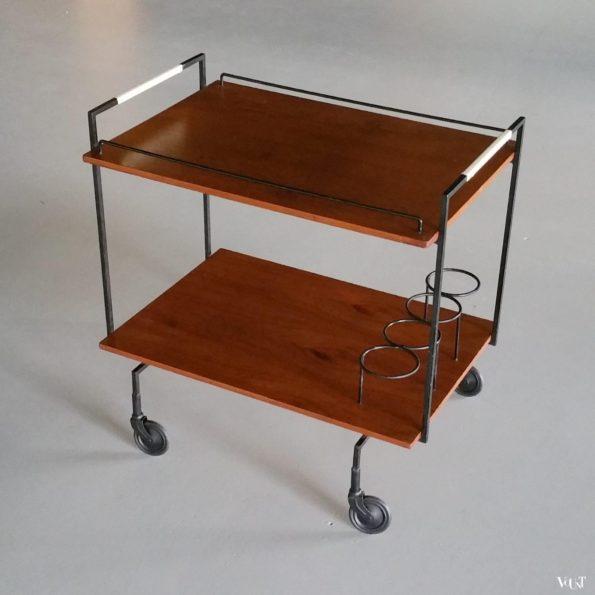 Mid-century minimalistische trolley, jaren '50/'60