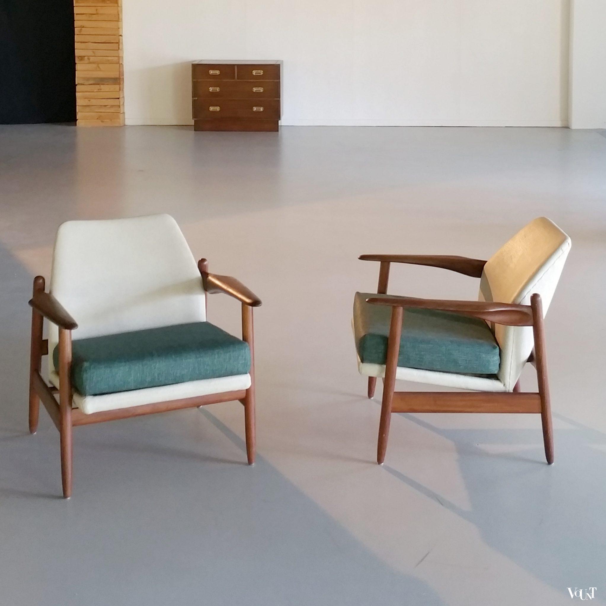 Wonderbaarlijk Set van 2 Propos teakhouten fauteuils, jaren '60 BO-27