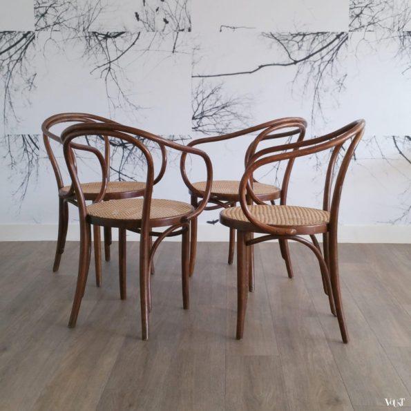 Set van 4 stoelen B9 / 209, ZPM Radomsko, jaren '60