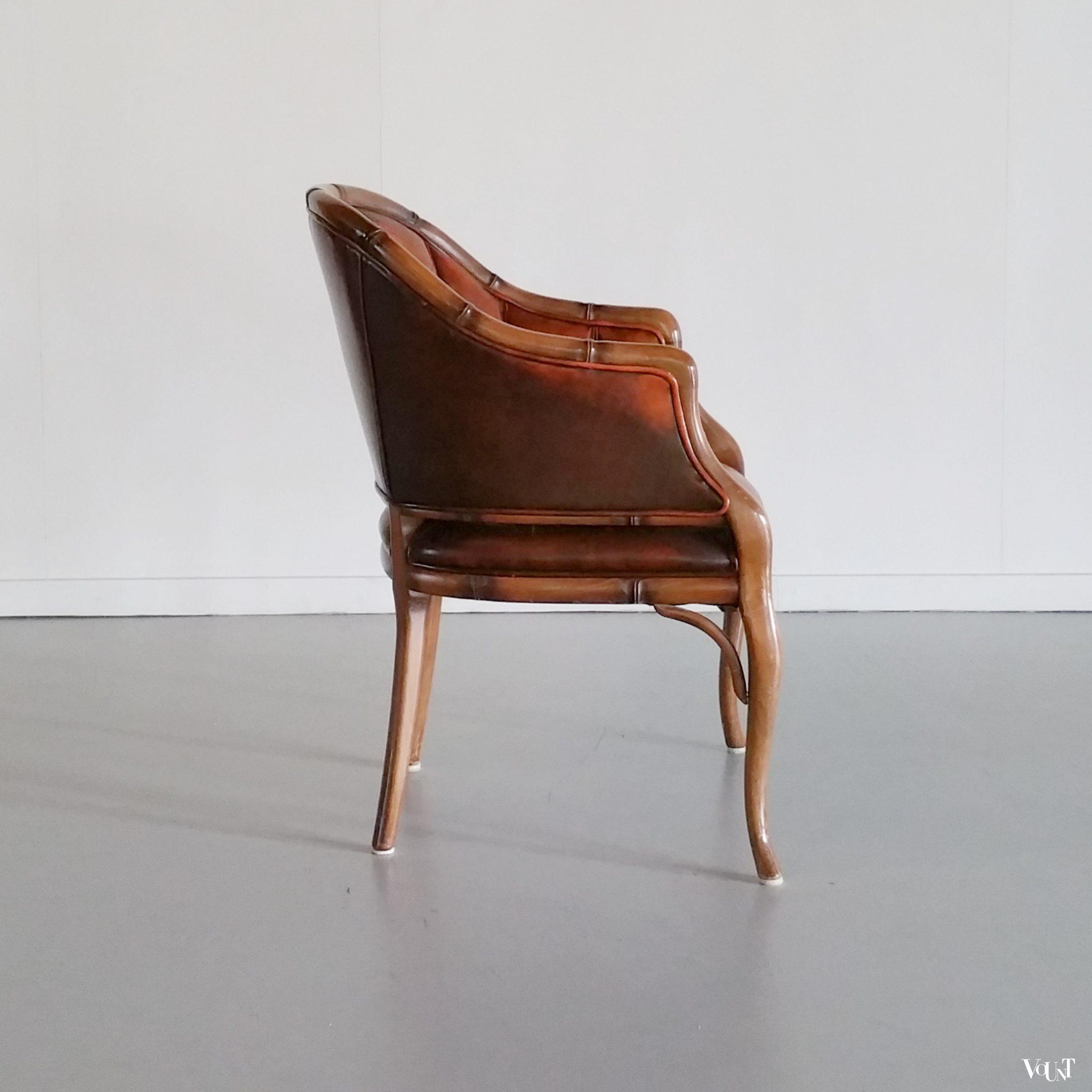 faux bamboo kuipstoel fauteuil jaren 39 70