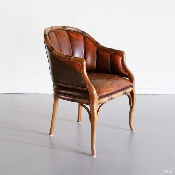 Faux bamboo kuipstoel / fauteuil, jaren '70