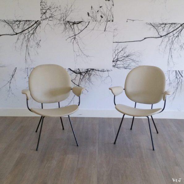 Set van 2 fauteuils 302, W.H. Gispen voor Kembo, jaren '50