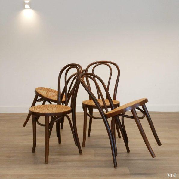 Set van 4 nr. 18 stoelen, ZPM Radomsko, jaren '70