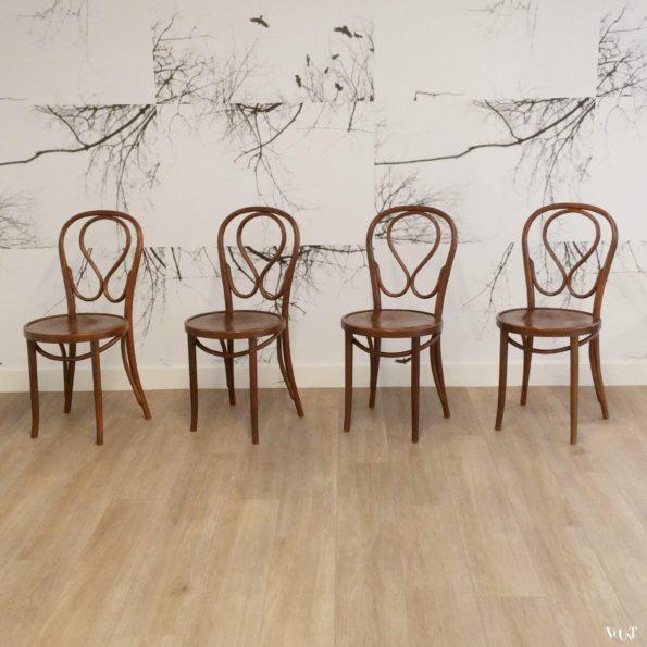 Set van 4 nr. 20 stoelen, Romania, jaren '60