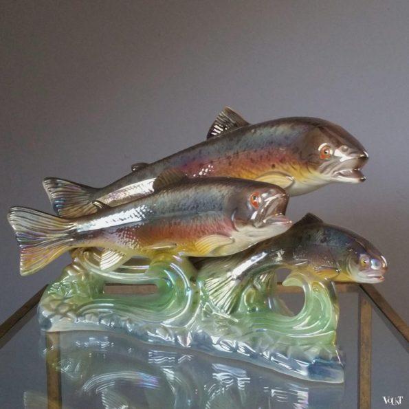 Sculptuur vissen, H. Bequet Quaregnon, België, jaren '50