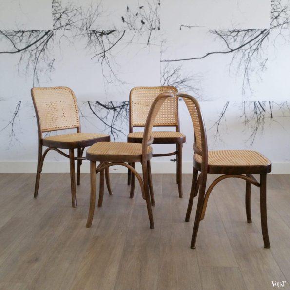 Set van 4 Praag of 811 stoelen, FMG, Polen, jaren '60