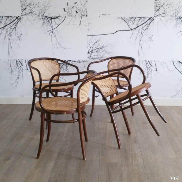 Set van 4 stoelen nr. 210, Ligna, jaren '60
