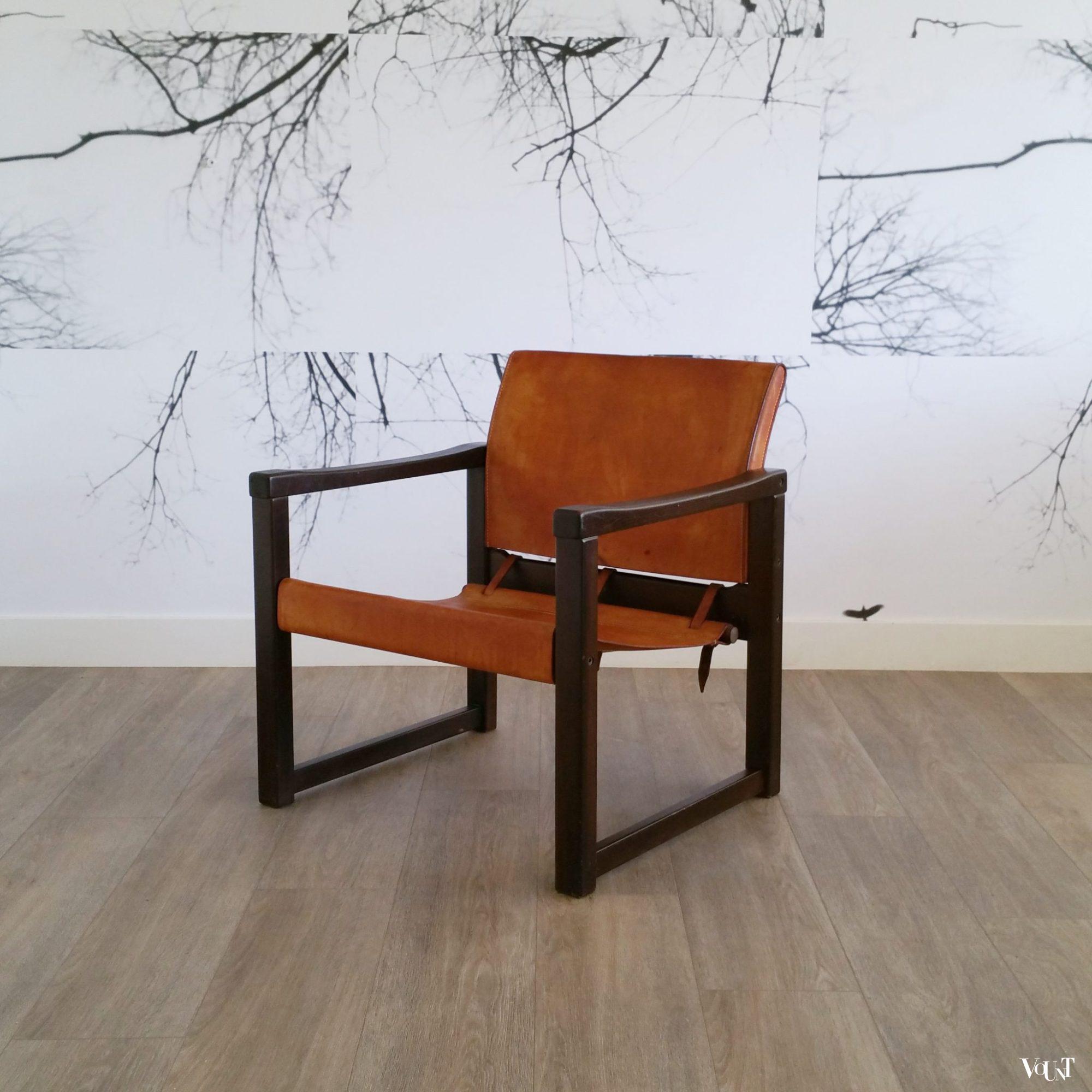 Ikea Leren Stoel.Leren Safaristoel Diana Karin Mobring Voor Ikea Zweden Jaren 70