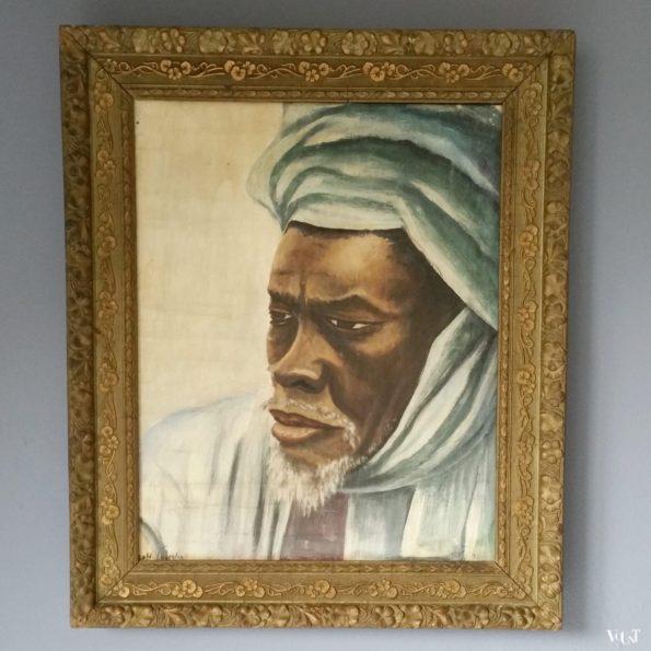 Vintage portret Noord-Afrikaanse man, ca. jaren '60