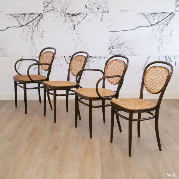 Set van 4 stoelen nr. 215, Thonet, jaren '80