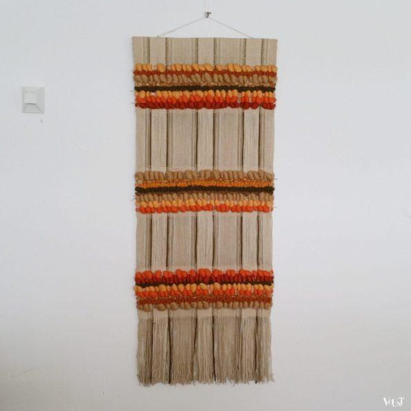 Wollen handgeweven wandkleed, Maria Svatina voor Svatina, jaren '70