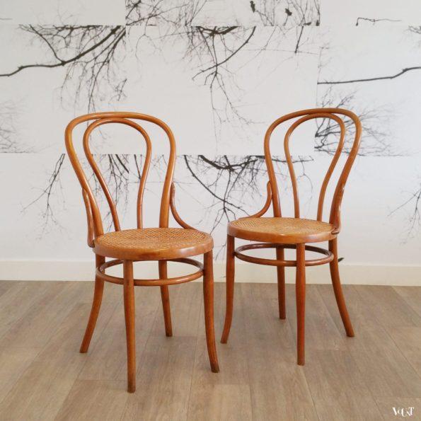 Set van 2 stoelen nr. 18, Josef Hoffmann, rond 1900