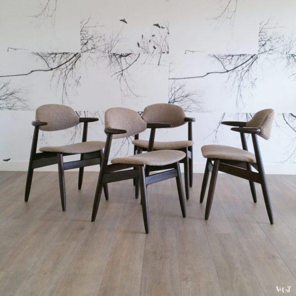 Set van 4 koehoorn stoelen, Tijsseling voor Hulmefa Nieuwe Pekela, jaren '60