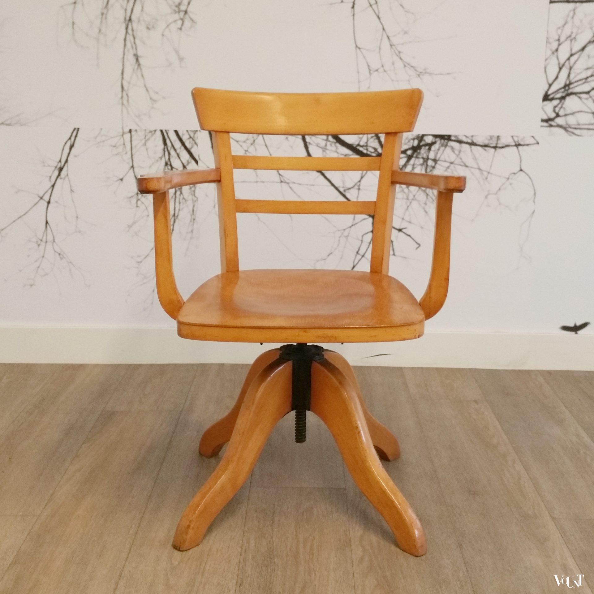 Draaibare en in hoogte verstelbare bureaustoel, Luterma, jaren '20'30