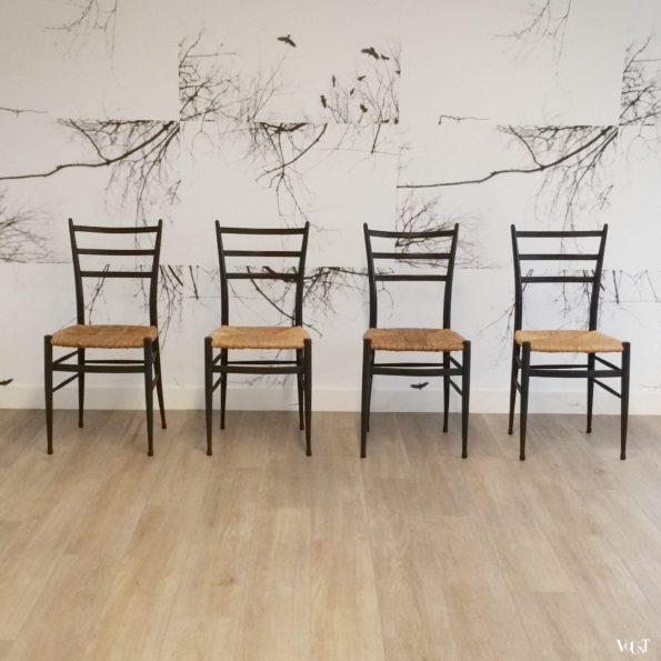 Set van 4 Spinetto stoelen, Chiavari, Italië, jaren '50
