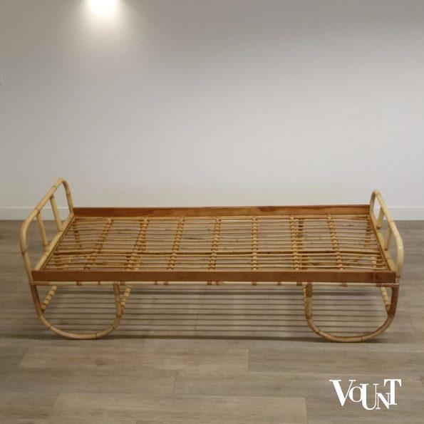 Vintage rotan bed, jaren '60