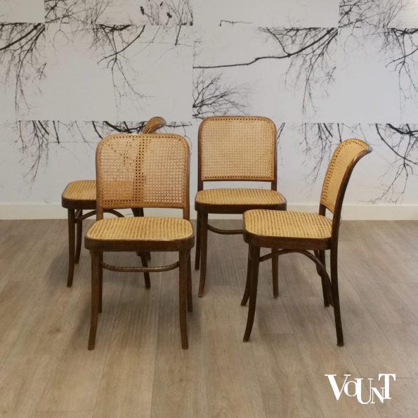 Set van 4 Praag of 811 stoelen, FMG, jaren '60