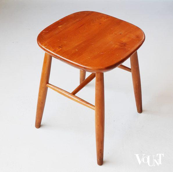 Vintage houten Scandinavische kruk, jaren '60