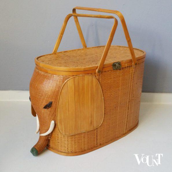 Vintage mand in de vorm van olifant, jaren '60