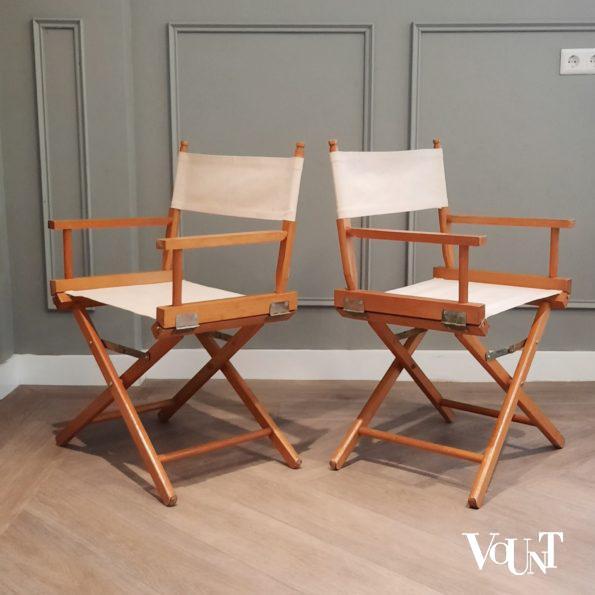 Set van 2 vintage regisseursstoelen