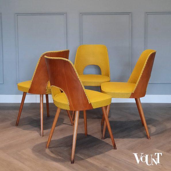 Set van 4 stoelen nr. 515, Oswald Haerdtl voor Thonet, jaren '50