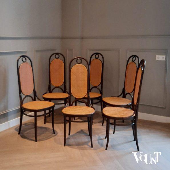 Set van 6 stoelen nr. 207 R, Thonet, jaren '70